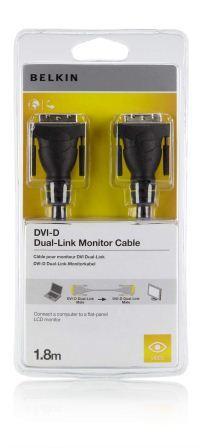 Belkin kabel DVI M/M dual link, 1,8m