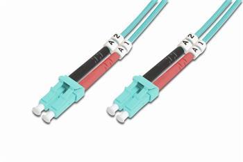 DIGITUS Fiber Optic Patch Cord, LC to LC, Multimode, OM3, 50/125 µ, Duplex Length 5m