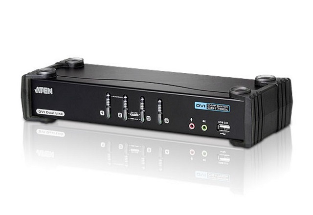 ATEN 4-portový přepínač KVM ™ DVI Dual Link/ se zvukem CS1784A