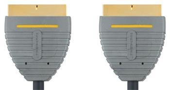 Bandridge kábel, SCART konektor - SCART konektor, 21 pin, 2m