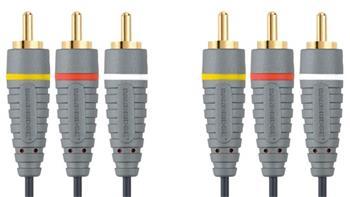 Bandridge kábel, 3x CINCH konektor - 3x CINCH konektor, 1.5m