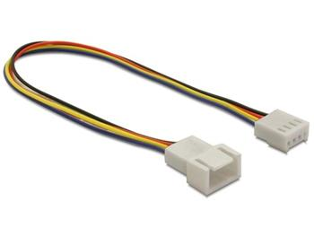 Delock napájecí kabel pro ventilátor, samec-samice, 4-pinový, délka 20 cm
