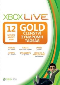 XBOX LIVE Gold karta 12 měsíců