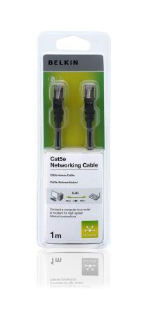 Belkin kabel CAT5e RJ45 datový černý, 1m