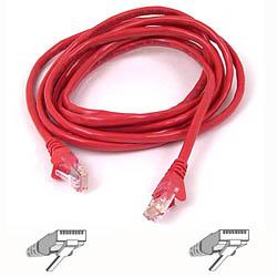 Belkin kabel PATCH UTP CAT5e 3m červený, bulk Snagless