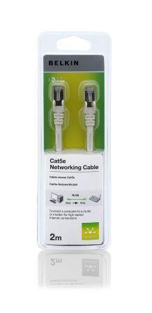 Belkin kabel CAT5e RJ45 datový bílý, 2m