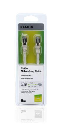 Belkin kabel CAT5e RJ45 datový bílý, 5m