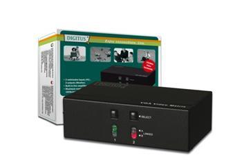 DIGITUS Video Matrix 2 Pcs, 2 Monitors, 250 MHZ, 2 X HDSUB 15/F - 2 X HDSUB 15/F 1920 x 1440 AT 60 HZ