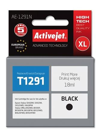 ActiveJet ink cartr. Eps T1291 Black SX525/BX320/BX625 100% NEW AE-1291N