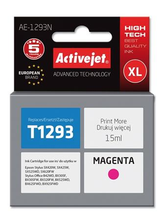ActiveJet ink cartr. Eps T1293 Magenta SX525/BX320/BX625 100% NEW AE-1293