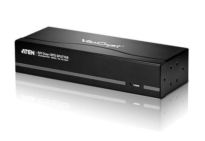 ATEN VS-1204T 4-portový VGA+AUDIO rozbočovač přez CAT5 , 300m