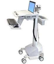 ERGOTRON StyleView® EMR Laptop Cart, Powered, pojízdný multifunkční stojan vč energie