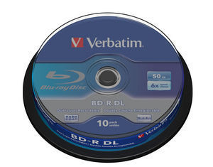 VERBATIM BD-R DL 50GB, 6x, spindle 10 ks