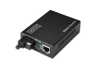 DIGITUS Bidirectional Fast Ethernet Media Converter, singlemode, RJ45 / SC Incl. PSU SC connector, Up to 20km