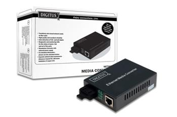 Digitus Media Converter 10/100/1000Base-T to 1000Base-LX + zdroj, 10km