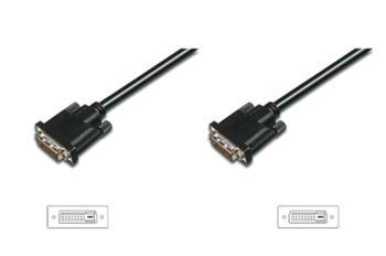 Digitus připojovací kabel DVI-D(18+1), Stíněný, SingleLink, Černý, 2m