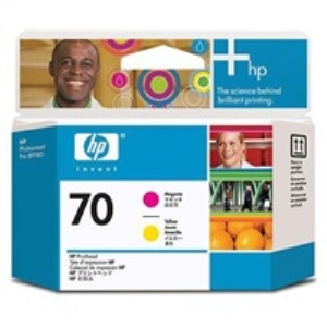HP C9406A No. 70 Magenta and Yellow Printhead pro DJ Z2100
