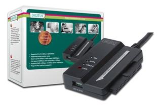 Digitus adaptér pro připojení IDE/SATA HDD na USB 3.0 včetně adaptéru (12V / 2A)