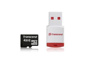 Transcend 8GB microSDHC (Class 10) pam�ov� karta (s USB adapt�rem)