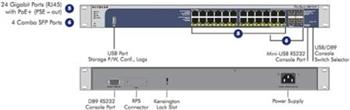 Netgear M4100 24x 10/100/1000 Layer 2+ Managed Gigabit Switch with static routing, 4 SFP GBIC slots, 24 PoE ports