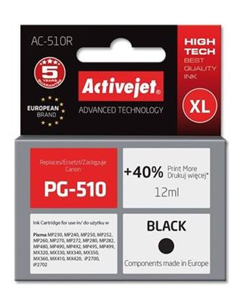 ActiveJet ink cartr. Canon PG-510 Bk ref. - 12 ml - AC-510
