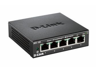 D-Link DES-105/E 5-port 10/100 Metal Housing Desktop Unmanaged Switch