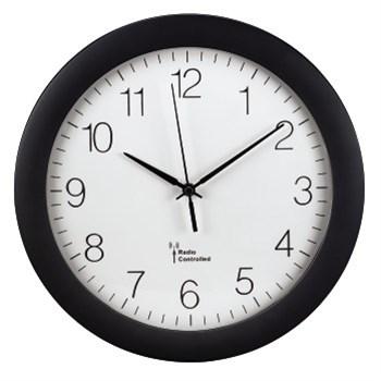 Hama nástěnné hodiny PG-300, DCF, černé