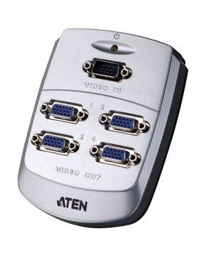 ATEN VS-84 4-portový VGA rozbočovač 250 MHz