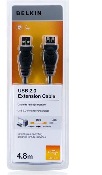 Belkin kabel USB 2.0 prodlužovací řada standard, 4,8m