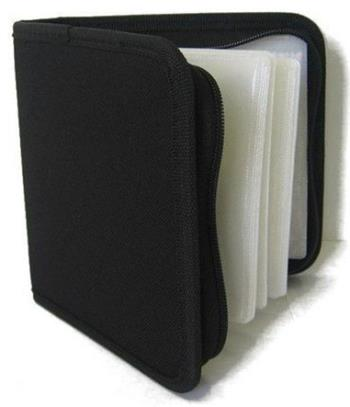 COVER IT Pouzdro na 24 CD zapínací černé
