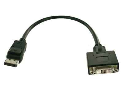 DisplayPort to DVI-D adapter cable