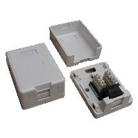 DATACOM Datová zásuvka UTP CAT5E 1xRJ45 na omítku (protiprachová) bílá