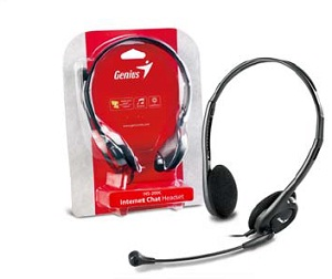 Genius headset - HS-200C, sluchátka s mikrofonem, 2x 3,5mm jack