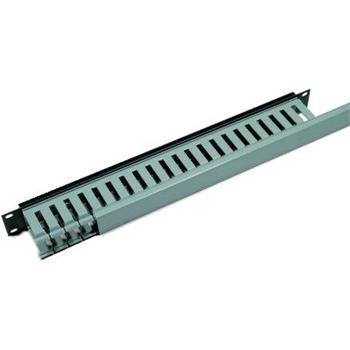 """Vyvazovací panel 1U s plastovou lištou pro 19"""" rack"""