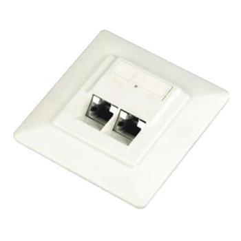 DATACOM Datová zásuvka UTP CAT6 2xRJ45 pod omítku 45st. bílá