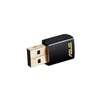 ASUS USB-AC51, Dvoupásmový Wi-Fi adaptér Wireless-AC600, Dual Band, WPS, jednoduché grafické rozhraní