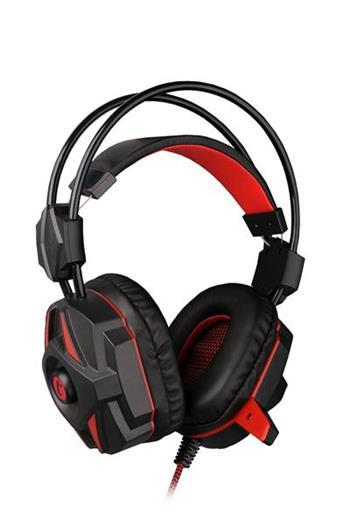 C-TECH herní sluchátka Kalypso (GHS-04R), černo-červená