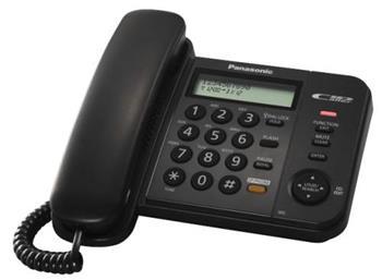 Panasonic KX-TS580FXB - jednolinkový telefon, černý