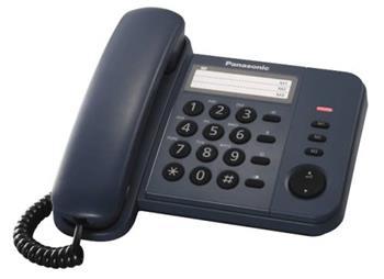 Panasonic KX-TS520FXC - jednolinkový telefon, modrý