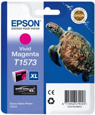 EPSON cartridge T1573 vivid magenta (želva)