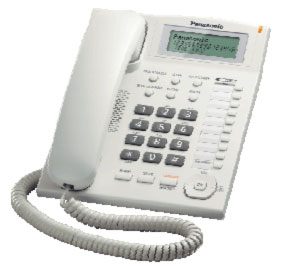 Panasonic KX-TS880FXW - jednolinkový telefon, bílý