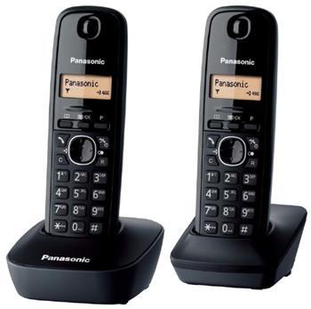 Panasonic KX-TG1612FXH, bezdrát. telefon, 2 sluchátka