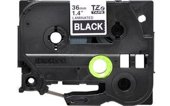 Brother - TZ-365, černá / bílá (36mm, laminovaná)