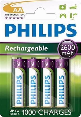 Philips baterie AA 2600mAh MultiLife, NiMh - 4ks