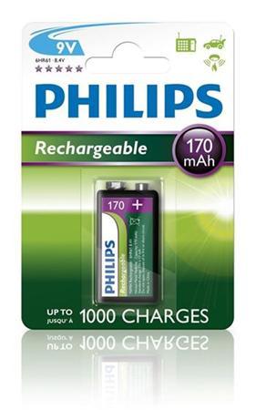 Philips baterie 9V 170mAh MultiLife, NiMh - 1ks