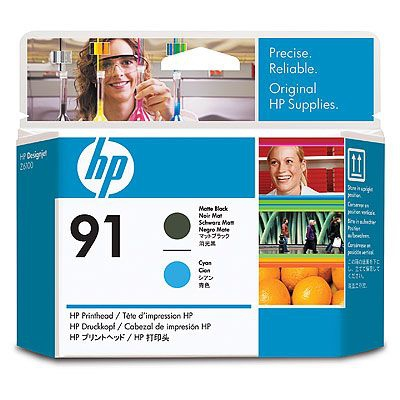 HP C9460A No. 91 Matte Black and Cyan Printhead pro DJ Z6100