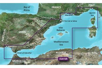 BlueChart G2 Vision Španielsko - Karta VE-U-010R / REGULAR