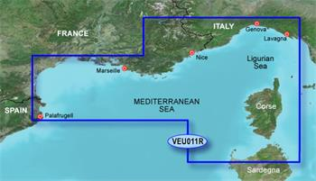 BlueChart G2 Vision Karta VEU011R- Francúzko, J.Pobrežie a Korzika/REGULAR