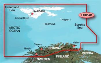 BlueChart G2 Vision Karta - Norsko EU054R / REGULAR