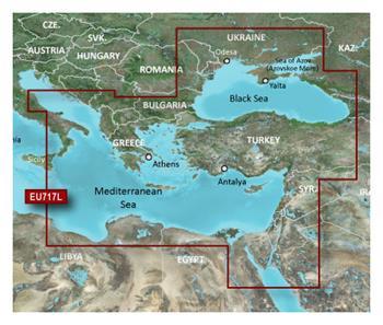 BlueChart G2 Vision J. Stredozemné a Čierne - Karta VEU717L / LARGE